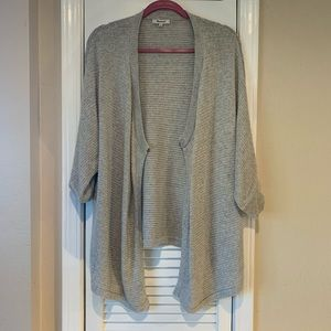 MADEWELL LIGHT GRAY OPEN CARDIGAN SIZE S
